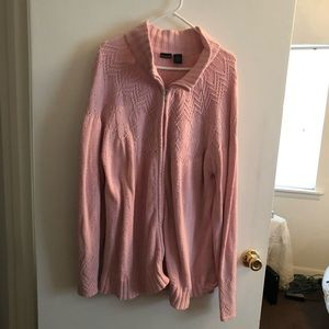 Pink Zip Up Cardigan with Bead Embellishments